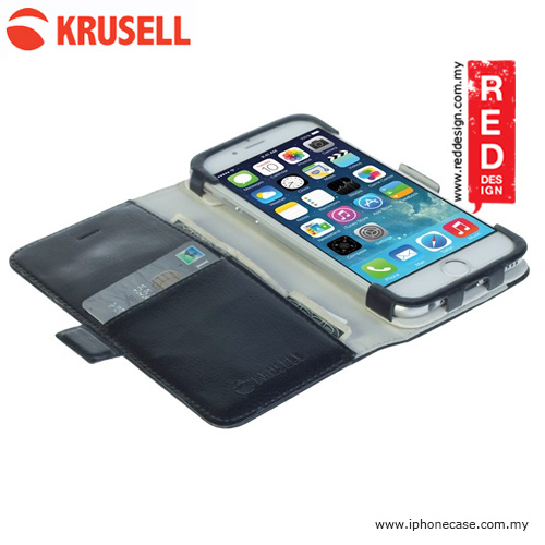 Picture of Apple iPhone 6 4.7 Case | Krusell Ekero Folio Wallet Flip Stand Case for iPhone 6 iPhone 6S 4.7 - Black