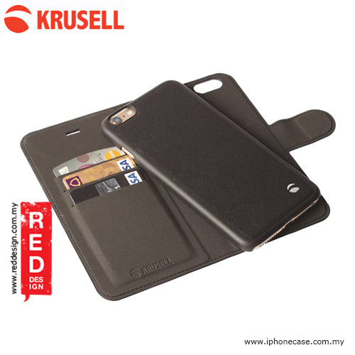 Picture of Apple iPhone 6S Plus 5.5 Case | Krusell Malmo FlipWallet 2in1 Case for iPhone 6 Plus 5.5 iPhone 6S Plus 5.5 - Black