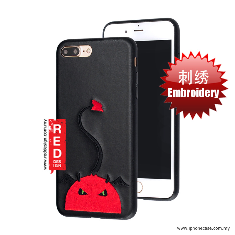 Picture of KSSDUN Embroidery Fashion Artwork Back Case for Apple iPhone 7 Plus iPhone 8 Plus 5.5 - Red Devil Apple iPhone 8 Plus- Apple iPhone 8 Plus Cases, Apple iPhone 8 Plus Covers, iPad Cases and a wide selection of Apple iPhone 8 Plus Accessories in Malaysia, Sabah, Sarawak and Singapore