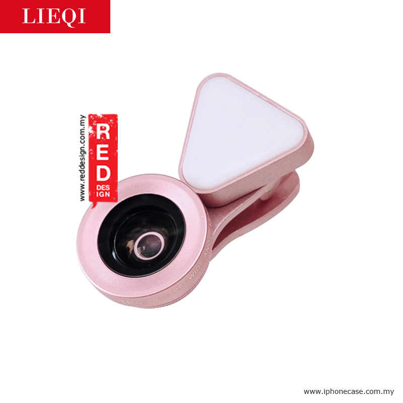 Picture of LIEQI LED FLASH LIGHT 3 in 1 Smartphone Camera Lens LQ035 - Rose Gold