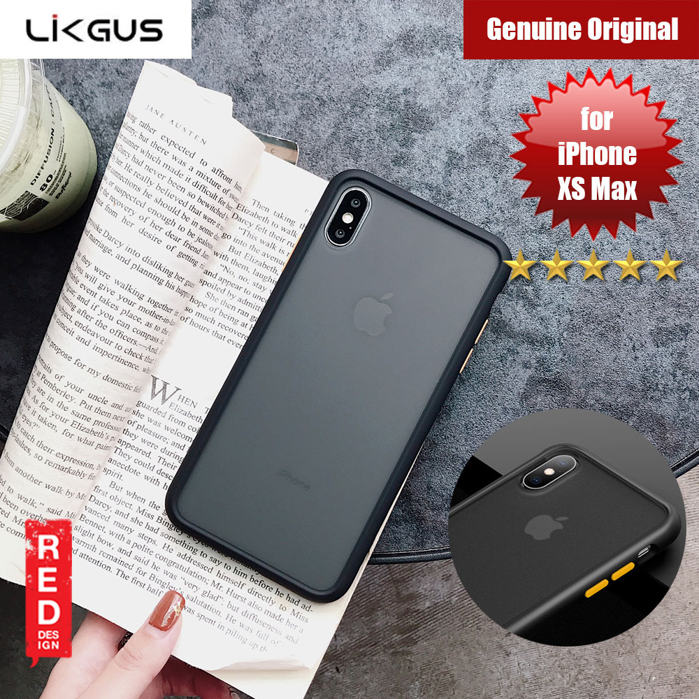 Picture of Likgus Maxshield Rugged Protection Cover Case  For Apple iPhone XS Max (Matter Black) Apple iPhone XS Max- Apple iPhone XS Max Cases, Apple iPhone XS Max Covers, iPad Cases and a wide selection of Apple iPhone XS Max Accessories in Malaysia, Sabah, Sarawak and Singapore