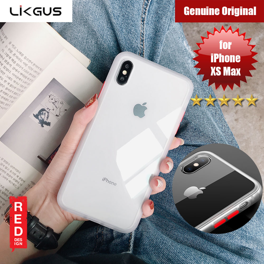 Picture of Likgus Maxshield Rugged Protection Cover Case  For Apple iPhone XS Max (Clear White) Apple iPhone XS Max- Apple iPhone XS Max Cases, Apple iPhone XS Max Covers, iPad Cases and a wide selection of Apple iPhone XS Max Accessories in Malaysia, Sabah, Sarawak and Singapore
