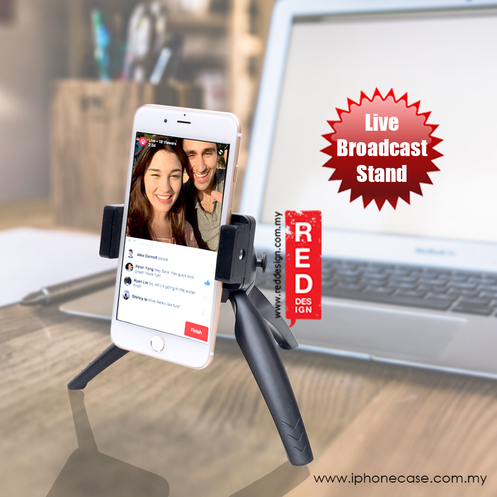 Picture of Mobile Phone Desktop Stands Live Steam Broadcast Phone Stand Tripod Holder Red Design- Red Design Cases, Red Design Covers, iPad Cases and a wide selection of Red Design Accessories in Malaysia, Sabah, Sarawak and Singapore