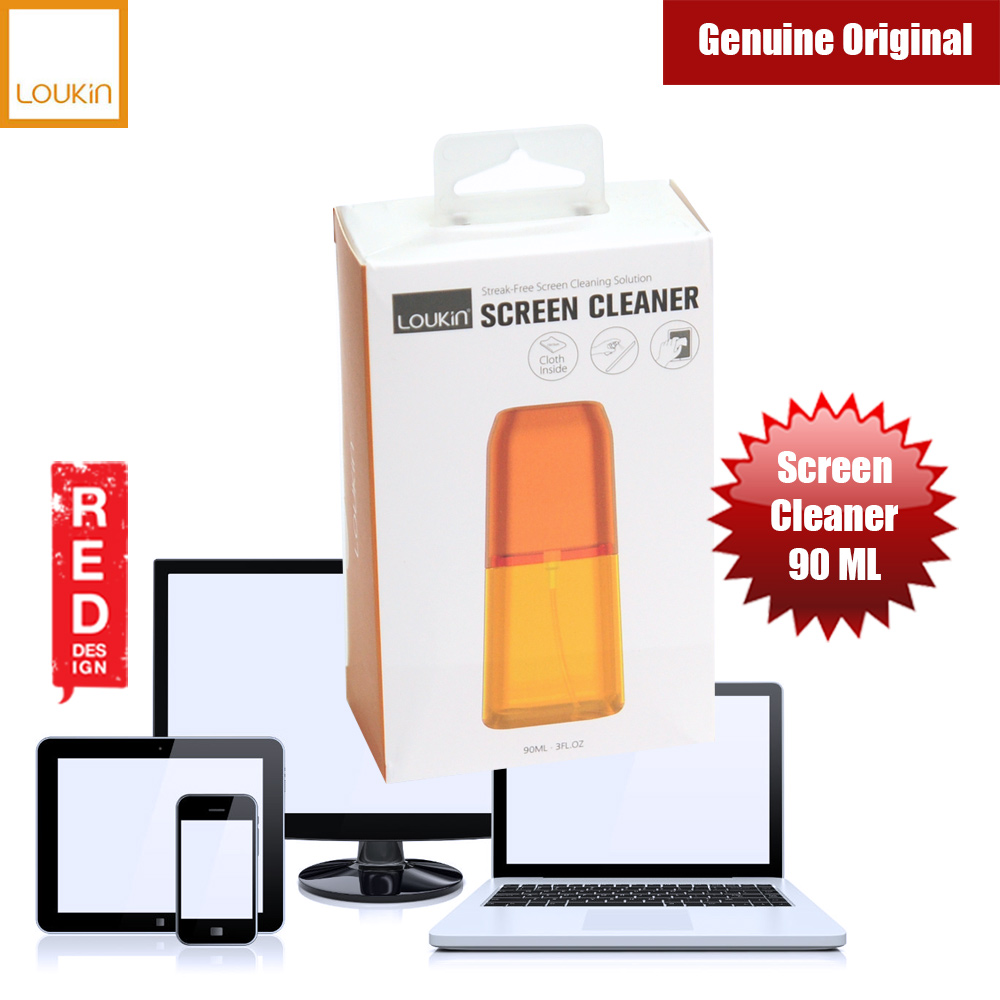 Picture of Loukin Screen Cleaner for iPhones iPads Smartphones Tablets Laptops  90ML (Orange) Red Design- Red Design Cases, Red Design Covers, iPad Cases and a wide selection of Red Design Accessories in Malaysia, Sabah, Sarawak and Singapore