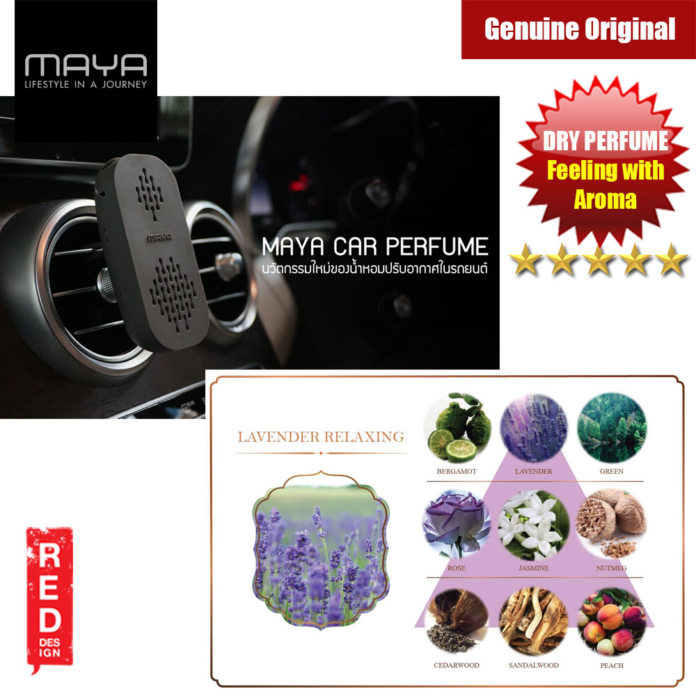 Picture of Maya Premium Car Perfume Innovation Dry Perfume Car Air Freshener with Aroma Fragrance (Lavender Relaxing) Red Design- Red Design Cases, Red Design Covers, iPad Cases and a wide selection of Red Design Accessories in Malaysia, Sabah, Sarawak and Singapore