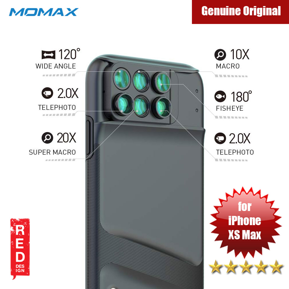 Picture of Momax 6 in 1 Camera Lens designed exclusively for iPhone XS Max Apple iPhone XS Max- Apple iPhone XS Max Cases, Apple iPhone XS Max Covers, iPad Cases and a wide selection of Apple iPhone XS Max Accessories in Malaysia, Sabah, Sarawak and Singapore