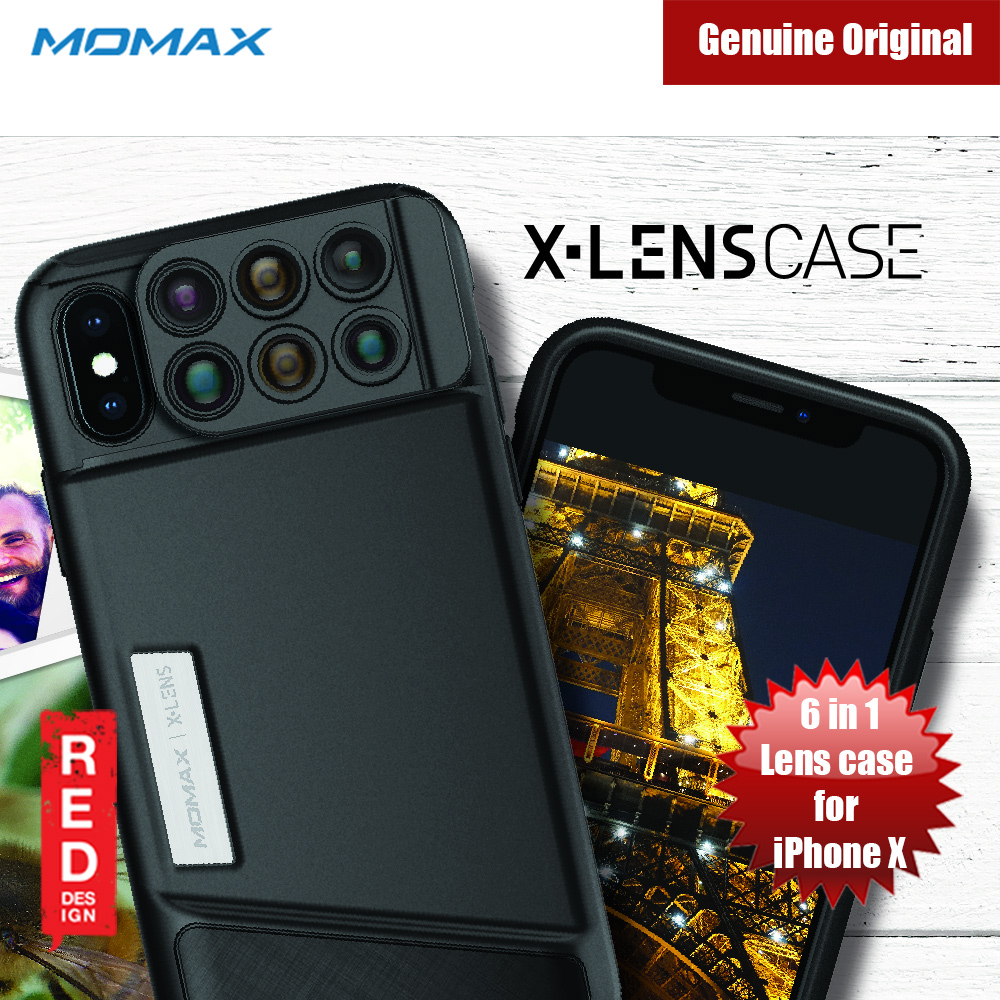 Picture of Momax 6 in 1 Camera Lens designed exclusively for iPhone X Apple iPhone X- Apple iPhone X Cases, Apple iPhone X Covers, iPad Cases and a wide selection of Apple iPhone X Accessories in Malaysia, Sabah, Sarawak and Singapore
