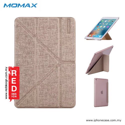Picture of Momax Flip Cover Multi Foldable Standable Cover Case for iPad Pro 9.7 - Champagne Gold Apple iPad Pro 9.7- Apple iPad Pro 9.7 Cases, Apple iPad Pro 9.7 Covers, iPad Cases and a wide selection of Apple iPad Pro 9.7 Accessories in Malaysia, Sabah, Sarawak and Singapore