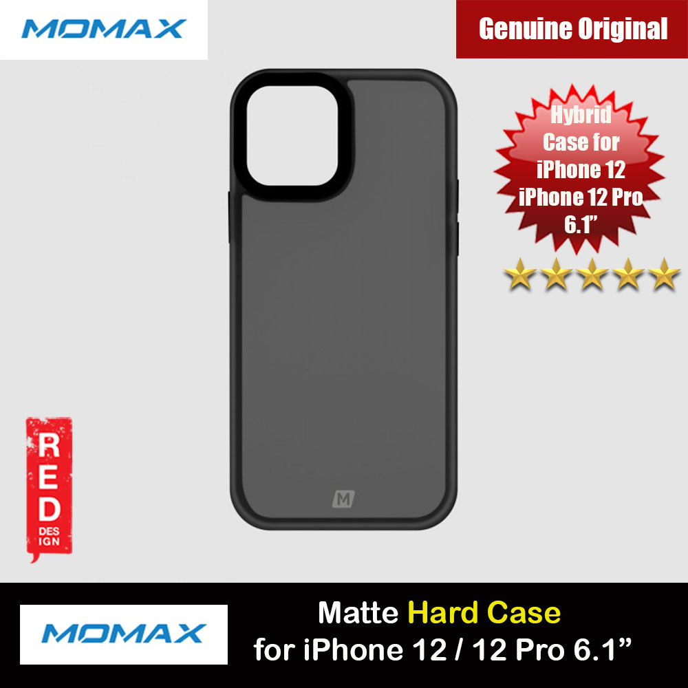 Picture of Momax Hybrid Hard Protection Case for iPhone 12 iPhone 12 Pro 6.1 (Matte Black) Apple iPhone 12 6.1- Apple iPhone 12 6.1 Cases, Apple iPhone 12 6.1 Covers, iPad Cases and a wide selection of Apple iPhone 12 6.1 Accessories in Malaysia, Sabah, Sarawak and Singapore