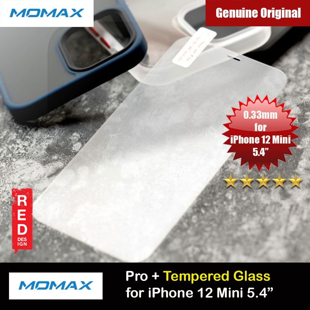 Picture of Momax Pro Plus 0.33mm Tempered Glass for iPhone 12 Mini 5.4 (Clear) Apple iPhone 12 mini 5.4- Apple iPhone 12 mini 5.4 Cases, Apple iPhone 12 mini 5.4 Covers, iPad Cases and a wide selection of Apple iPhone 12 mini 5.4 Accessories in Malaysia, Sabah, Sarawak and Singapore