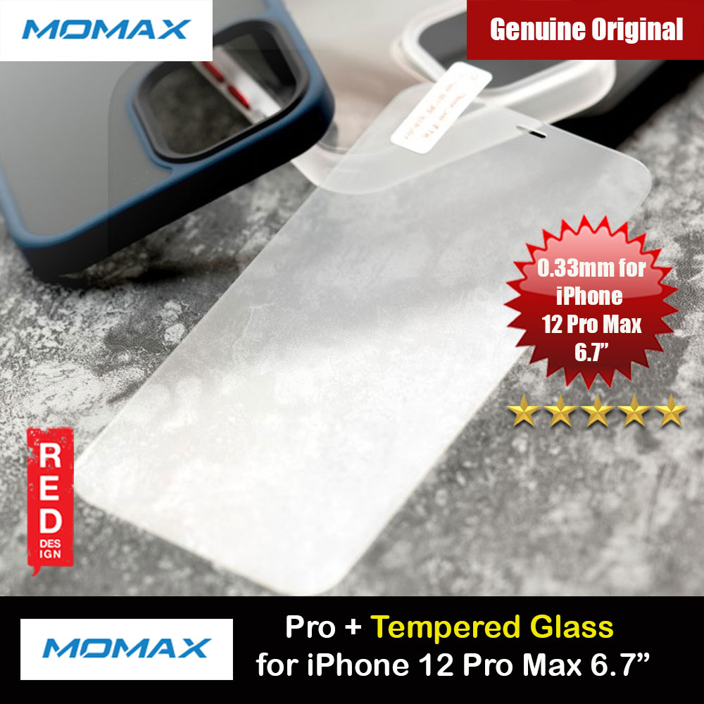 Picture of Momax Pro Plus 0.33mm Tempered Glass for iPhone 12 Pro Max 6.7 (Clear) Apple iPhone 12 Pro Max 6.7- Apple iPhone 12 Pro Max 6.7 Cases, Apple iPhone 12 Pro Max 6.7 Covers, iPad Cases and a wide selection of Apple iPhone 12 Pro Max 6.7 Accessories in Malaysia, Sabah, Sarawak and Singapore