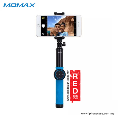 Picture of Momax Universal Pro Twist Lock Selfie Hero Monopod for Smartphone and GoPro with Wireless Bluetooth Shutter - 100cm Blue