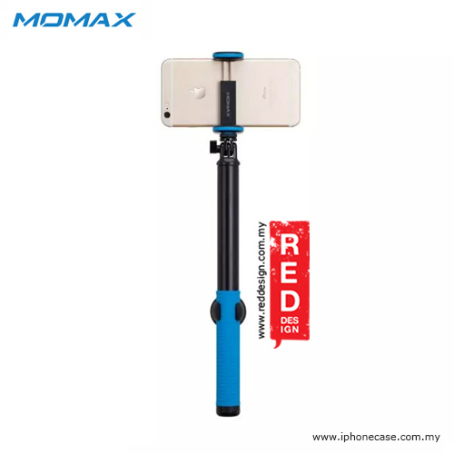 Picture of Momax Universal Pro Twist Lock Selfie Hero Monopod for Smartphone and GoPro with Wireless Bluetooth Shutter - 150cm Blue