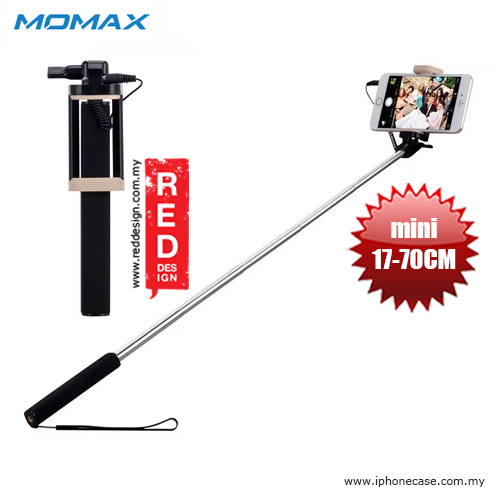 Picture of Momax Selfie Mini Mini Pocket Monopod with Audio Shutter 17cm to 70cm - Black Red Design- Red Design Cases, Red Design Covers, iPad Cases and a wide selection of Red Design Accessories in Malaysia, Sabah, Sarawak and Singapore