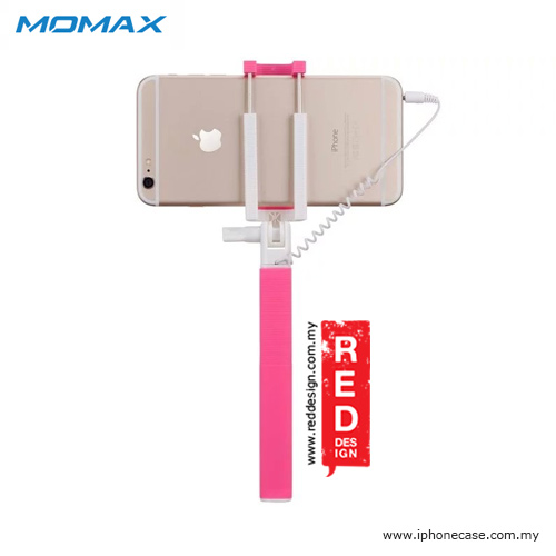 Picture of Momax Selfie Mini Mini Pocket Monopod with Audio Shutter 17cm to 70cm - Pink
