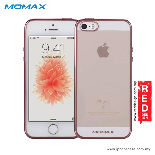the latest c82df c34eb Momax Splendor Series Soft TPU Case for iPhone SE iPhone 5 iPhone 5S - Rose  Gold