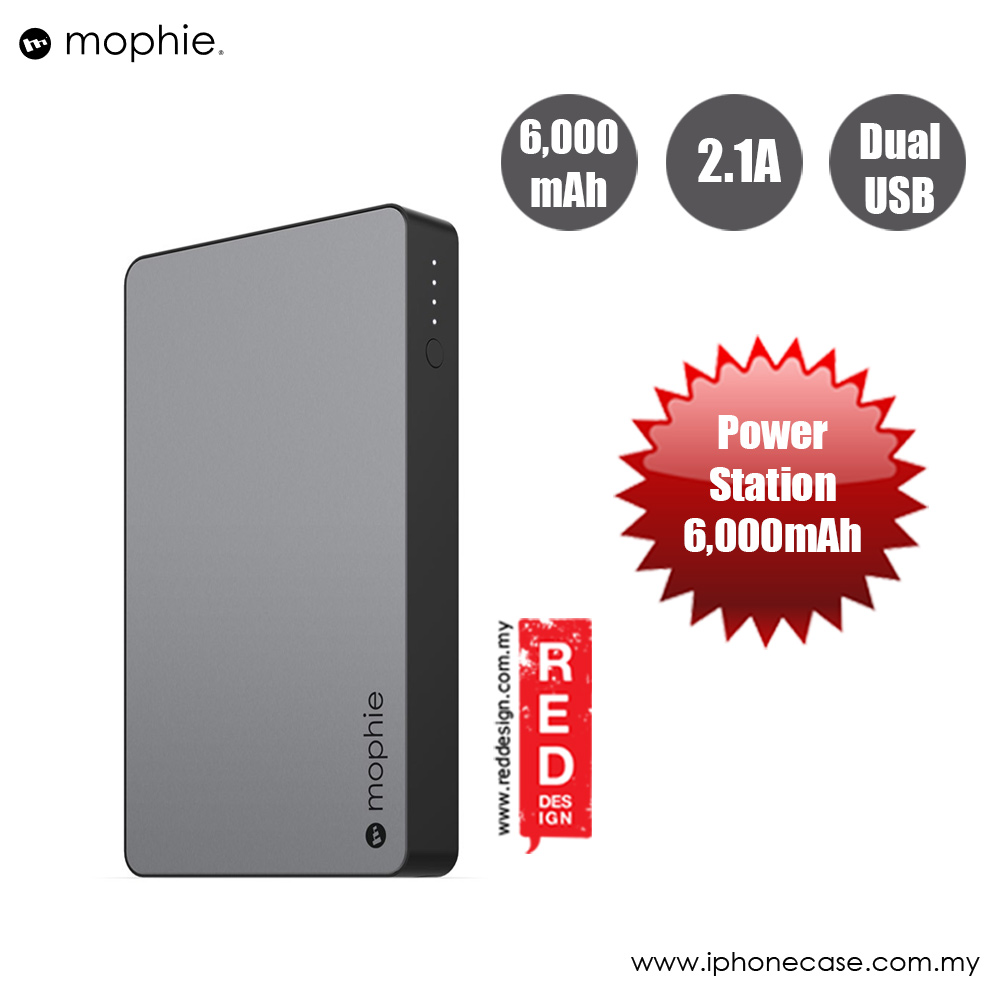 Picture of Mophie Powerstation Power Bank for Smartphones Tablets and USB Devices (6000mAh Grey) Red Design- Red Design Cases, Red Design Covers, iPad Cases and a wide selection of Red Design Accessories in Malaysia, Sabah, Sarawak and Singapore