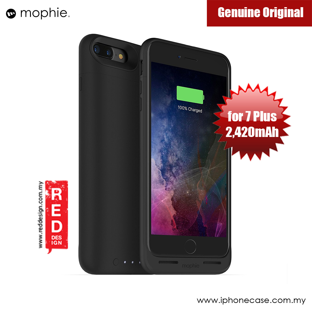 Picture of Mophie Juice Pack Wireless Apple iPhone 7 Plus Battery Case 2,420mAh (Black) Apple iPhone 7 Plus 5.5- Apple iPhone 7 Plus 5.5 Cases, Apple iPhone 7 Plus 5.5 Covers, iPad Cases and a wide selection of Apple iPhone 7 Plus 5.5 Accessories in Malaysia, Sabah, Sarawak and Singapore