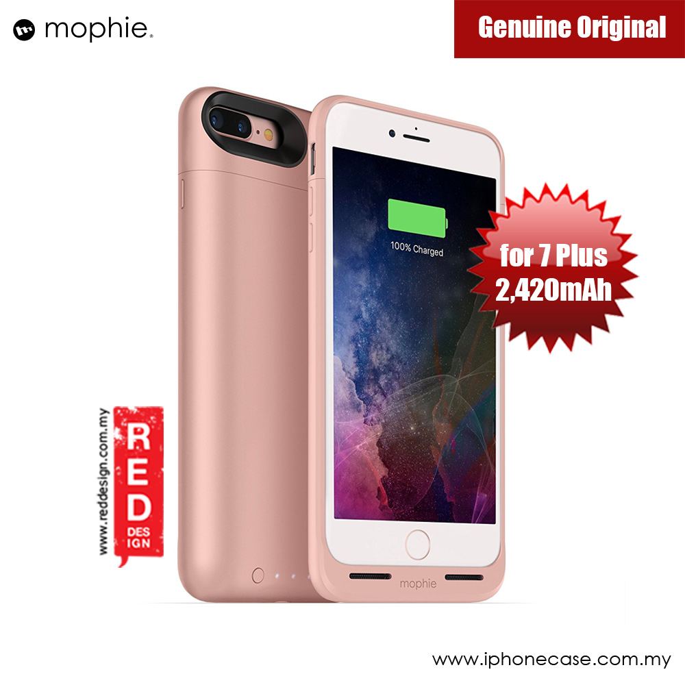 Picture of Mophie Juice Pack Wireless Apple iPhone 7 Plus Battery Case 2,420mAh (Rose Gold) Apple iPhone 7 Plus 5.5- Apple iPhone 7 Plus 5.5 Cases, Apple iPhone 7 Plus 5.5 Covers, iPad Cases and a wide selection of Apple iPhone 7 Plus 5.5 Accessories in Malaysia, Sabah, Sarawak and Singapore