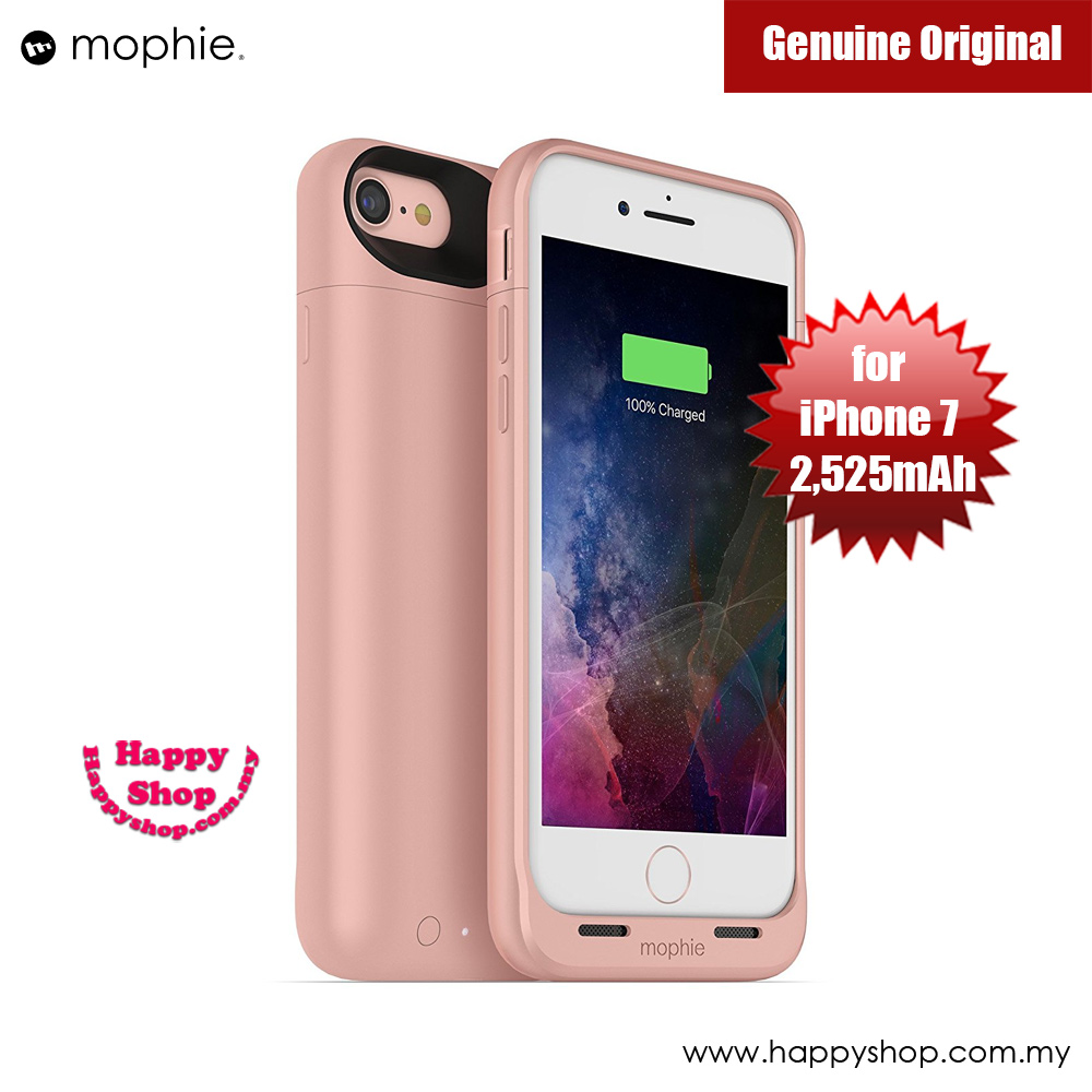 Picture of Mophie Juice Pack Wireless Apple iPhone 7 4.7 Battery Case 2,525mAh (Rose Gold) Apple iPhone 7 4.7- Apple iPhone 7 4.7 Cases, Apple iPhone 7 4.7 Covers, iPad Cases and a wide selection of Apple iPhone 7 4.7 Accessories in Malaysia, Sabah, Sarawak and Singapore
