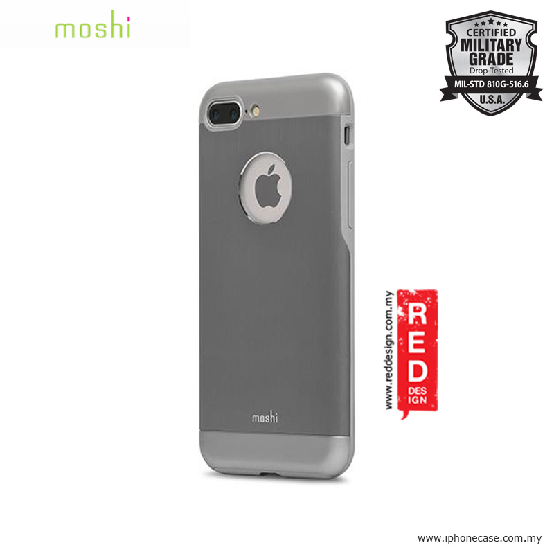 timeless design 49890 9886b Moshi iGlaze Armor Military Grade Protection Back Cover Case for Apple  iPhone 7 Plus iPhone 8 Plus 5.5 - Gunmetal Gray