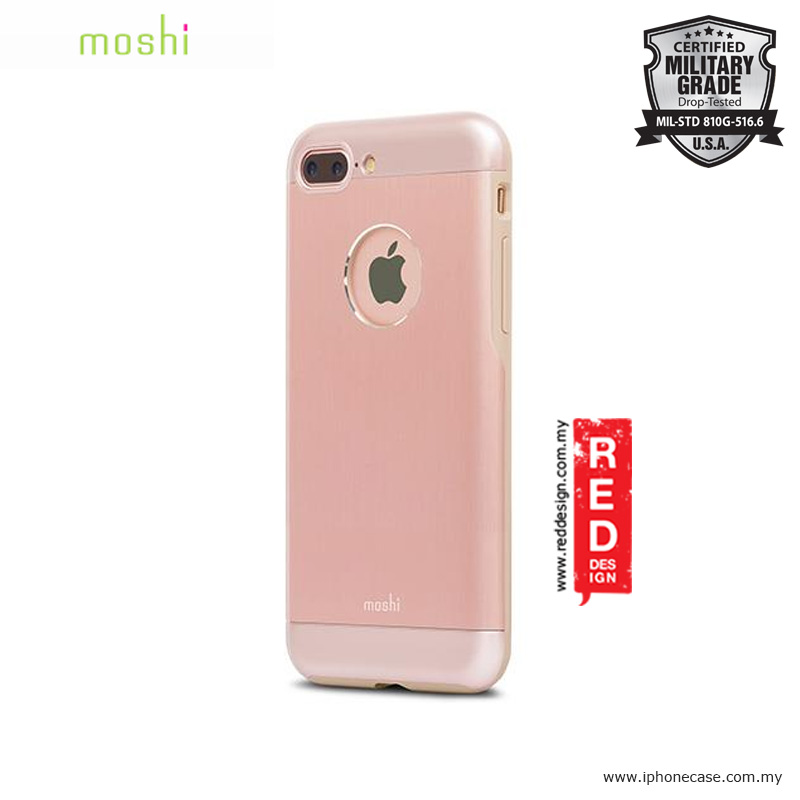 Picture of Moshi iGlaze Armor Military Grade Protection Back Cover Case for Apple iPhone 7 Plus iPhone 8 Plus 5.5 - Golden Rose Apple iPhone 8 Plus- Apple iPhone 8 Plus Cases, Apple iPhone 8 Plus Covers, iPad Cases and a wide selection of Apple iPhone 8 Plus Accessories in Malaysia, Sabah, Sarawak and Singapore