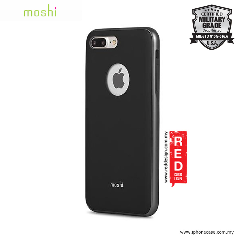 Picture of Moshi iGlaze Slim Lightweight Back Cover Case for Apple iPhone 7 Plus iPhone 8 Plus 5.5 - Metro Black Apple iPhone 8 Plus- Apple iPhone 8 Plus Cases, Apple iPhone 8 Plus Covers, iPad Cases and a wide selection of Apple iPhone 8 Plus Accessories in Malaysia, Sabah, Sarawak and Singapore