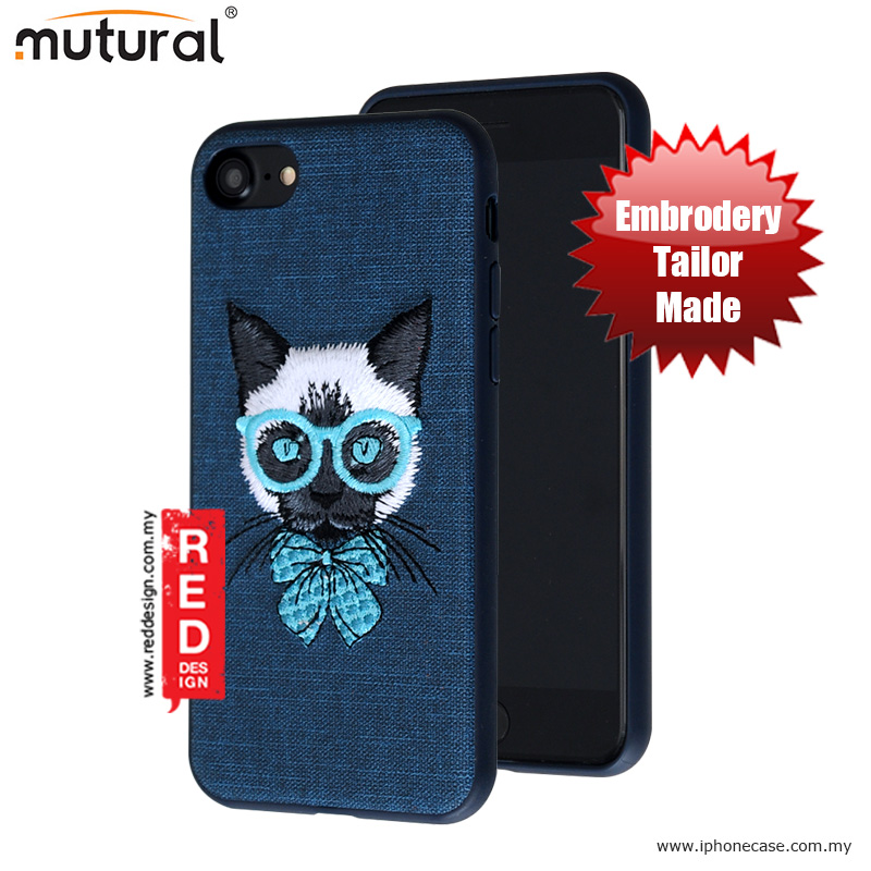 Picture of Mutural Design Embroidery Fashion Artwork Back Case for Apple iPhone 7 iPhone 8 4.7 - Cat Blue Apple iPhone 8- Apple iPhone 8 Cases, Apple iPhone 8 Covers, iPad Cases and a wide selection of Apple iPhone 8 Accessories in Malaysia, Sabah, Sarawak and Singapore