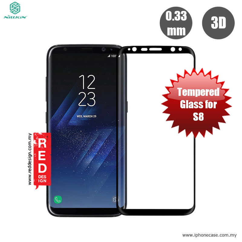 Picture of Nillkin 3D CP+ MAX Full coverage Anti-explosion Tempered Glass Screen Protector for Samsung Galaxy S8 - Black Samsung Galaxy S8- Samsung Galaxy S8 Cases, Samsung Galaxy S8 Covers, iPad Cases and a wide selection of Samsung Galaxy S8 Accessories in Malaysia, Sabah, Sarawak and Singapore
