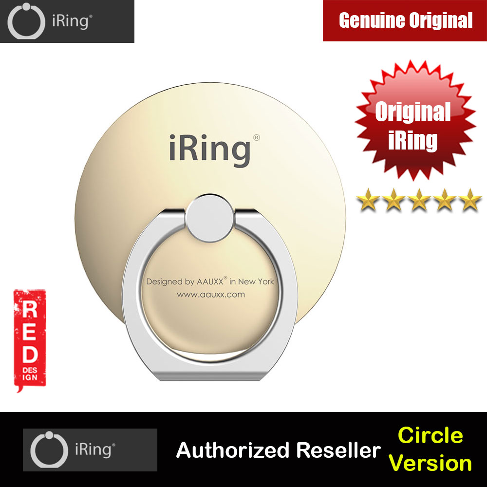 Picture of AAUXX Original iRing Circle Original AAUXX Cell Phone Ring Grip Finger Holder Mobile Stand Kickstand Universally Compatible for Smartphone Phone Mini iPad Mini Tablet (Champagne Gold) Red Design- Red Design Cases, Red Design Covers, iPad Cases and a wide selection of Red Design Accessories in Malaysia, Sabah, Sarawak and Singapore