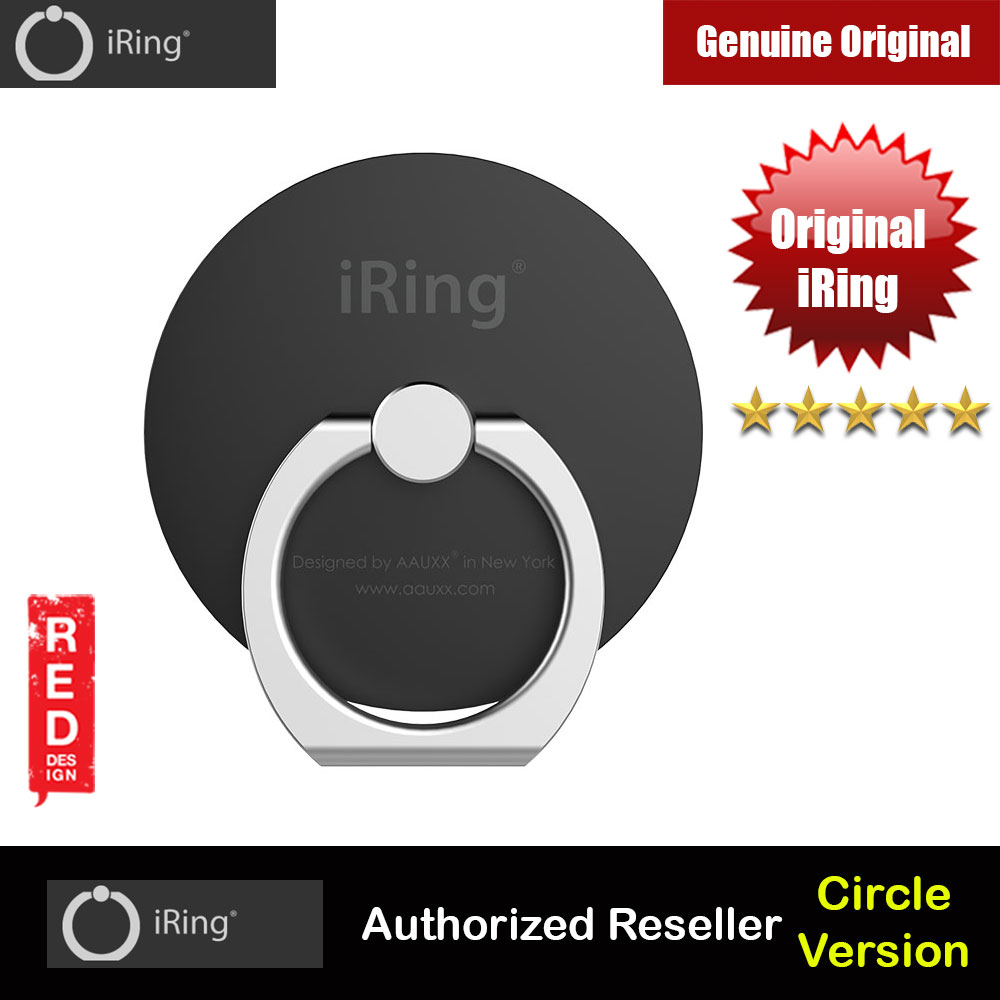 Picture of AAUXX Original iRing Circle Original AAUXX Cell Phone Ring Grip Finger Holder Mobile Stand Kickstand Universally Compatible for Smartphone Phone Mini iPad Mini Tablet (Matte Black) Red Design- Red Design Cases, Red Design Covers, iPad Cases and a wide selection of Red Design Accessories in Malaysia, Sabah, Sarawak and Singapore