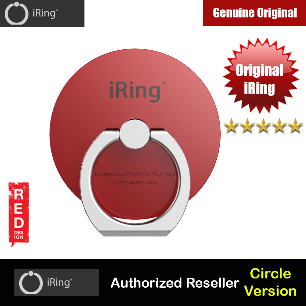 Picture of AAUXX Original iRing Circle Original AAUXX Cell Phone Ring Grip Finger Holder Mobile Stand Kickstand Universally Compatible for Smartphone Phone Mini iPad Mini Tablet (Metalic Red) Red Design- Red Design Cases, Red Design Covers, iPad Cases and a wide selection of Red Design Accessories in Malaysia, Sabah, Sarawak and Singapore