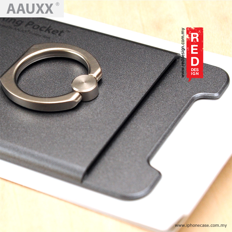 Picture of AAUXX iRing Pocket Card Holder With Universal Phone Grip and Stand - Graphite Grey