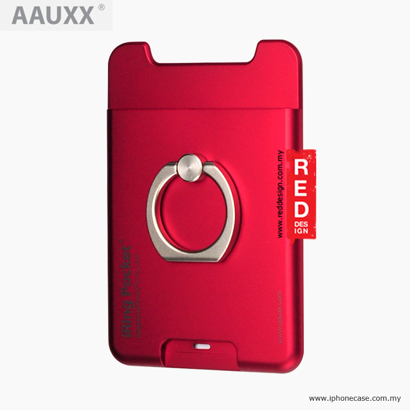 Picture of AAUXX iRing Pocket Card Holder With Universal Phone Grip and Stand - Red