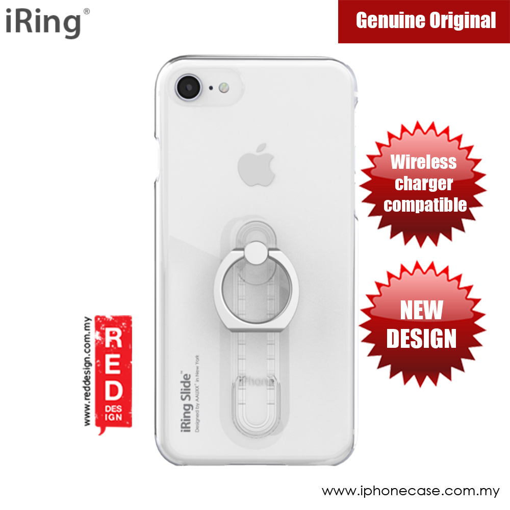 Picture of Apple iPhone 8  | iRing Slide Built in iRing  for Apple iPhone 7 iPhone 8 (Clear)
