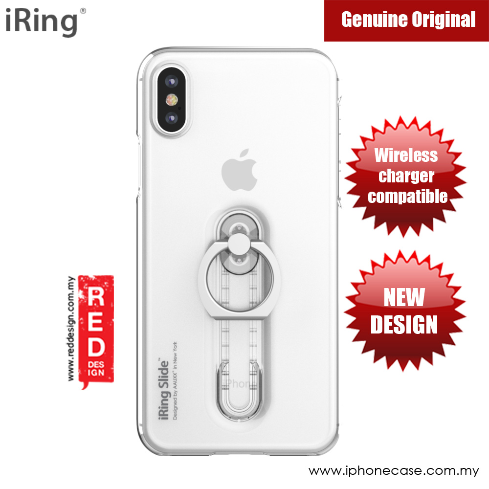 Picture of Apple iPhone X Case | iRing Slide Built in iRing Case for Apple iPhone X (Clear)