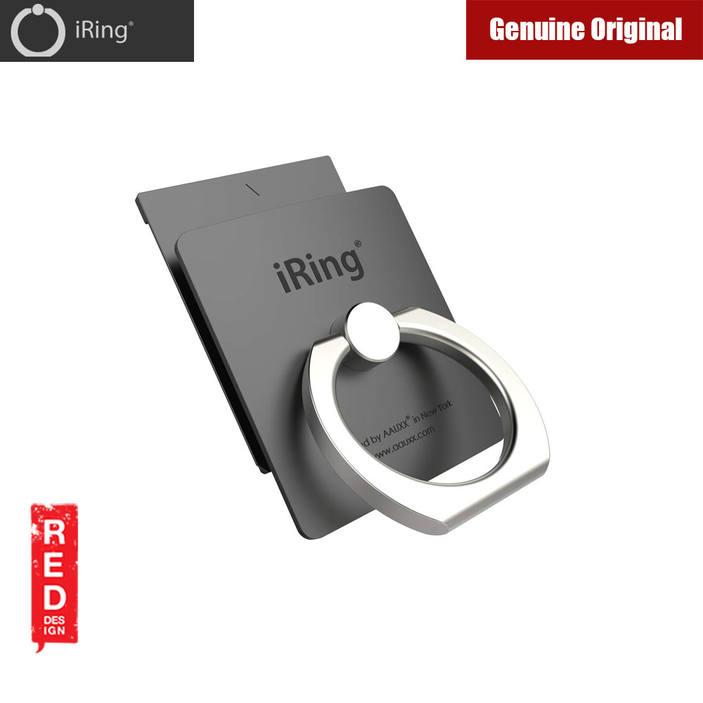 Picture of AAUXX iRing Link Universal Phone Grip and Stand Compatible with wireless charging (Graphite Gray) Red Design- Red Design Cases, Red Design Covers, iPad Cases and a wide selection of Red Design Accessories in Malaysia, Sabah, Sarawak and Singapore