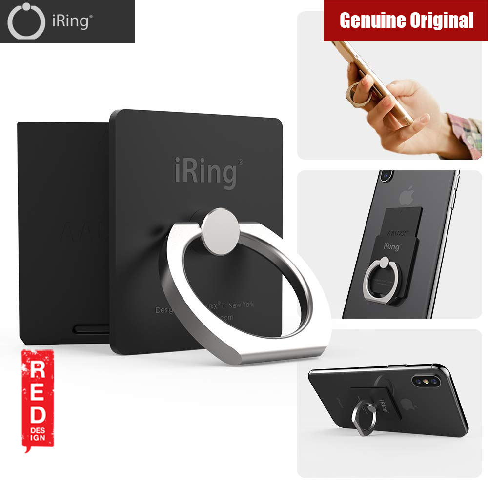 Picture of AAUXX iRing Link Universal Phone Grip and Stand Compatible with wireless charging (Matt Black) Red Design- Red Design Cases, Red Design Covers, iPad Cases and a wide selection of Red Design Accessories in Malaysia, Sabah, Sarawak and Singapore
