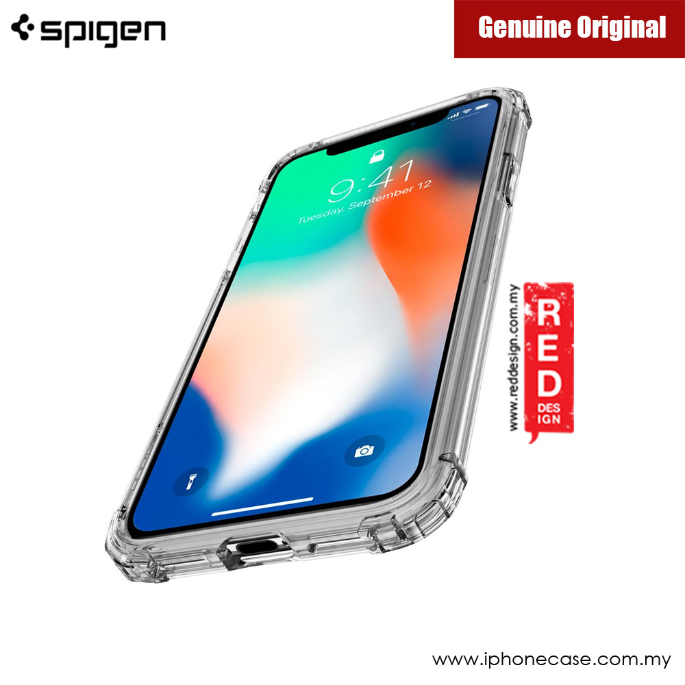 Picture of Apple iPhone X Case | Spigen Crystal Shell Protection Case for Apple iPhone X (Crystal Clear)