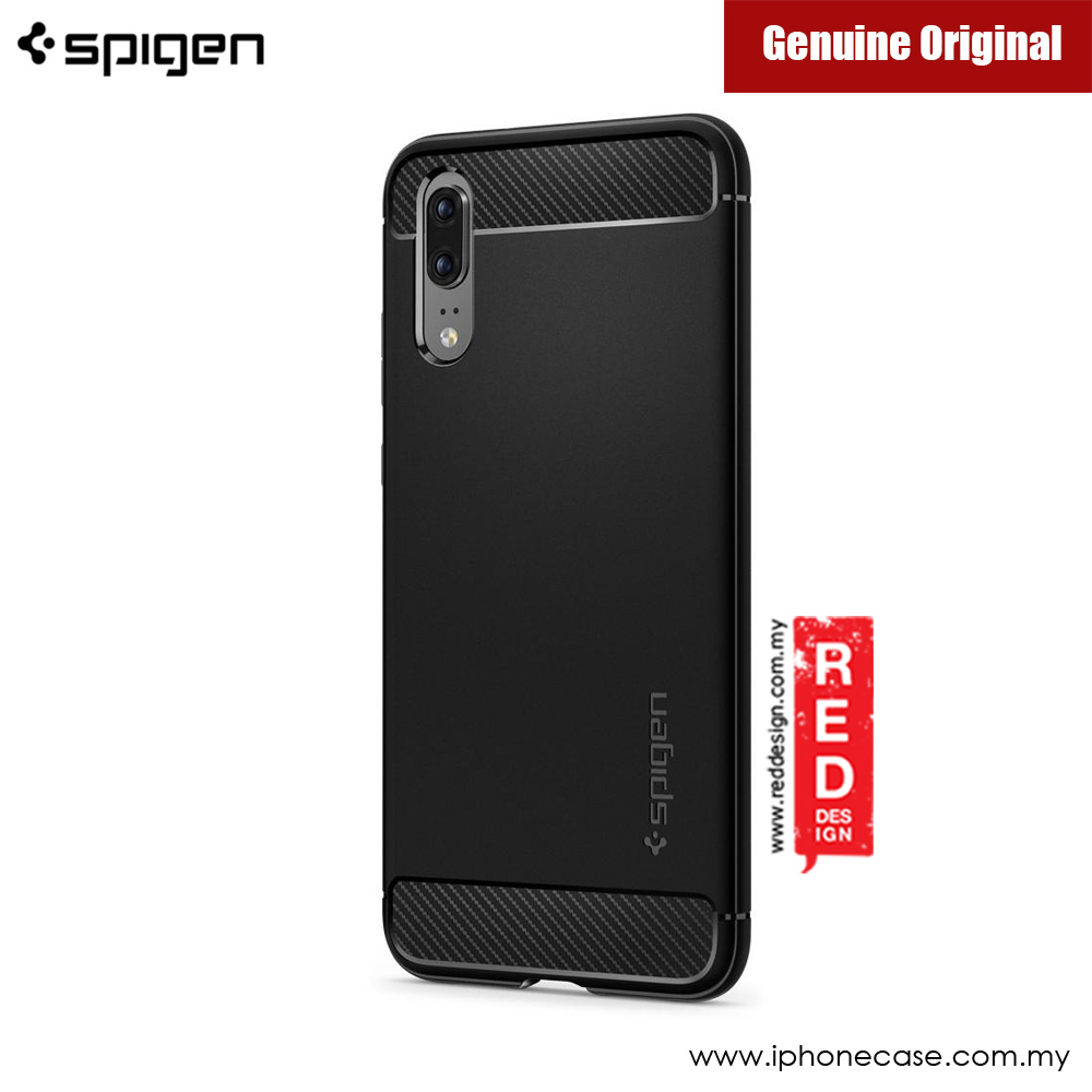 Picture of Huawei P20 Case | Spigen Rugged Armor Protection Case for Huawei P20 (Black)