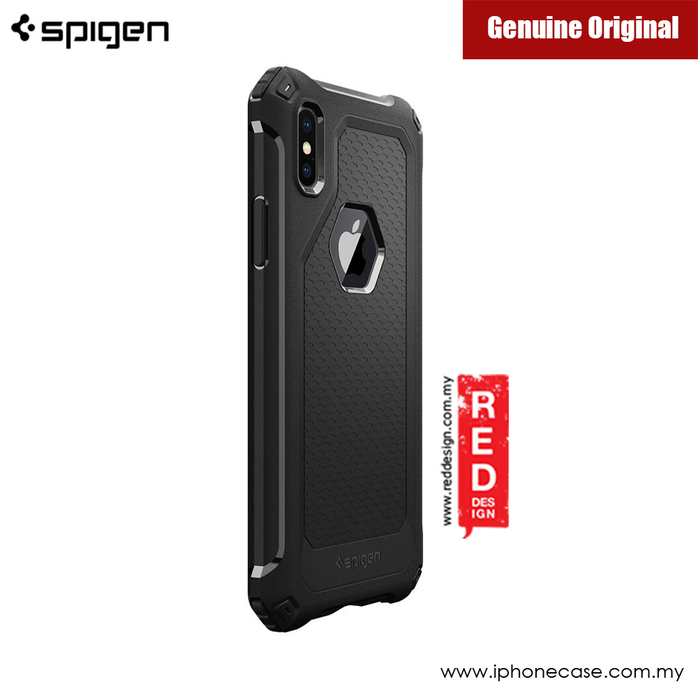 Picture of Apple iPhone X Case | Spigen Rugged Armor Extra Protection Case for Apple iPhone X (Black)