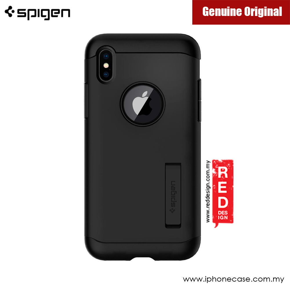 Picture of Apple iPhone X Case | Spigen Slim Armor Protection Case for Apple iPhone X (Black)