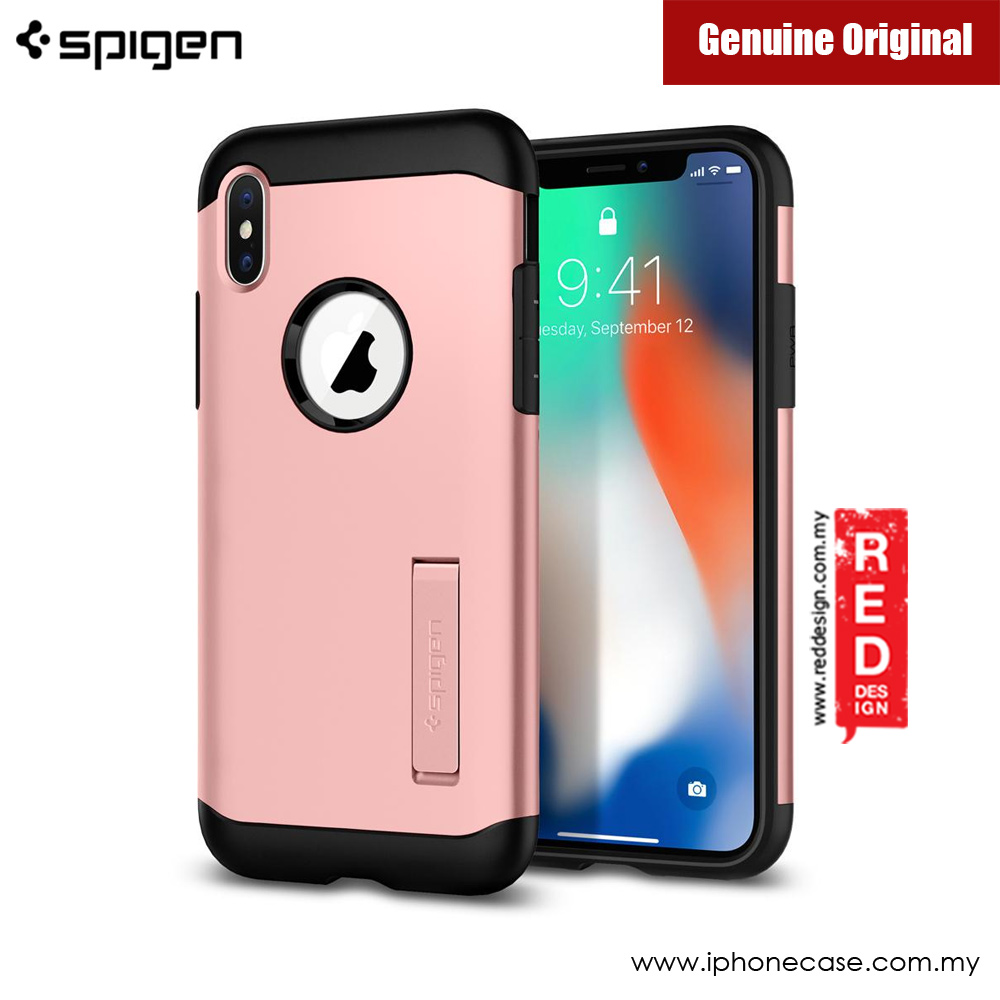 Picture of Apple iPhone X Case | Spigen Slim Armor Protection Case for Apple iPhone X (Rose Gold)