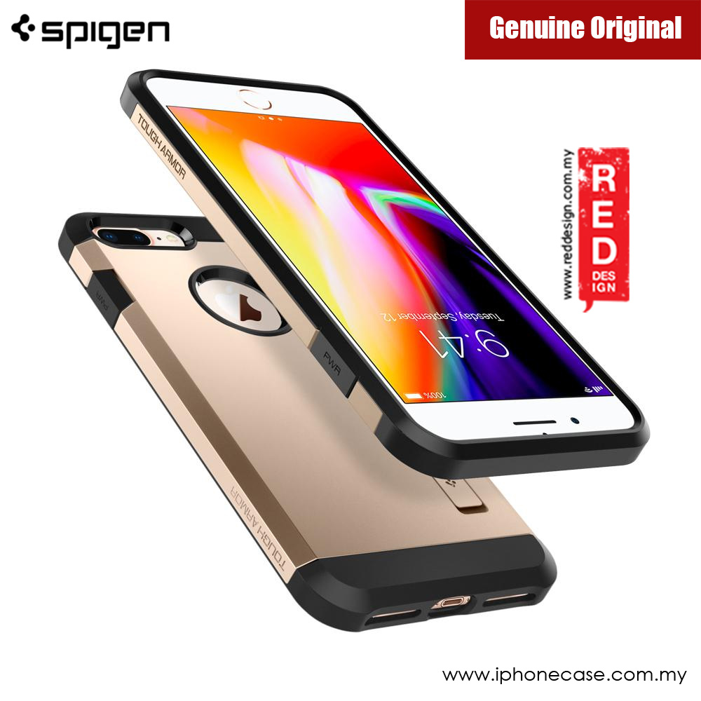Picture of Apple iPhone 8 Plus Case | Spigen Tough Armor 2 Protection Case for Apple iPhone 7 Plus iPhone 8 Plus 5.5 (Champagne Gold)