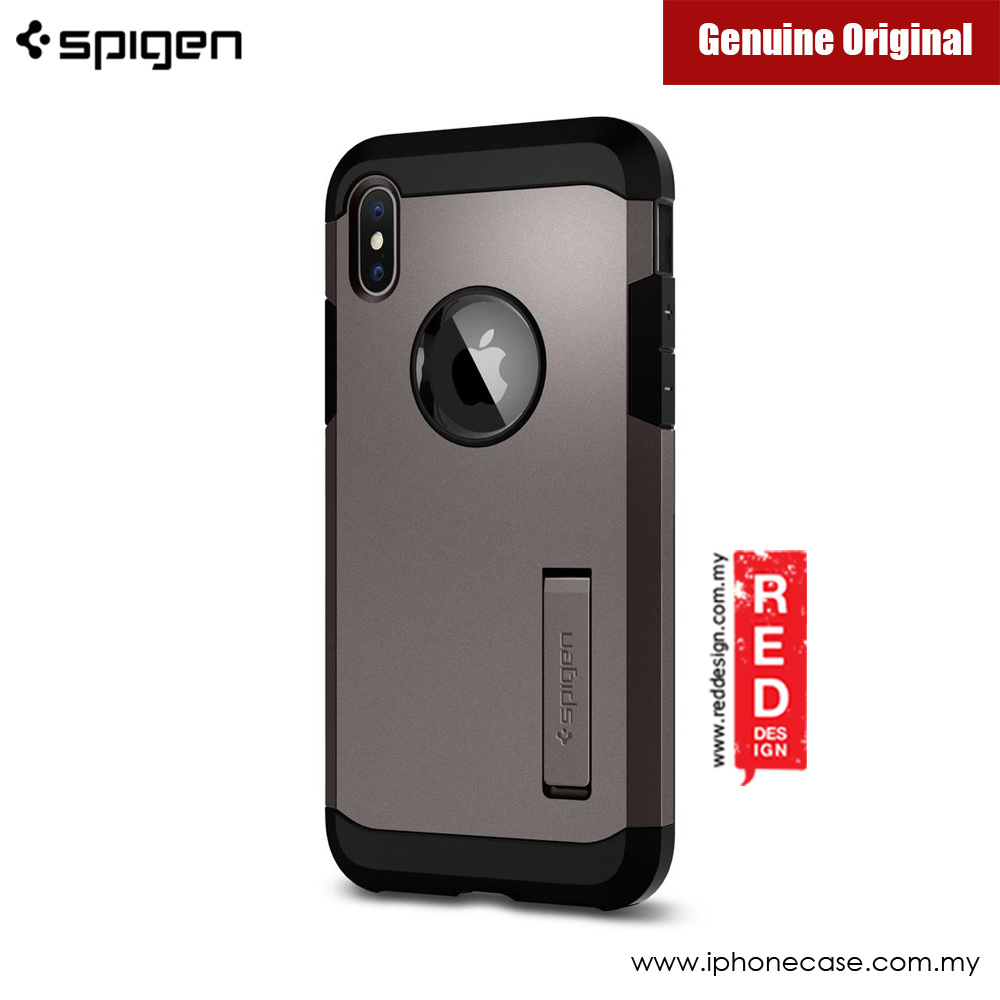 Picture of Apple iPhone X Case | Spigen Tough Armor Protection Case for Apple iPhone X (Gunmetal)