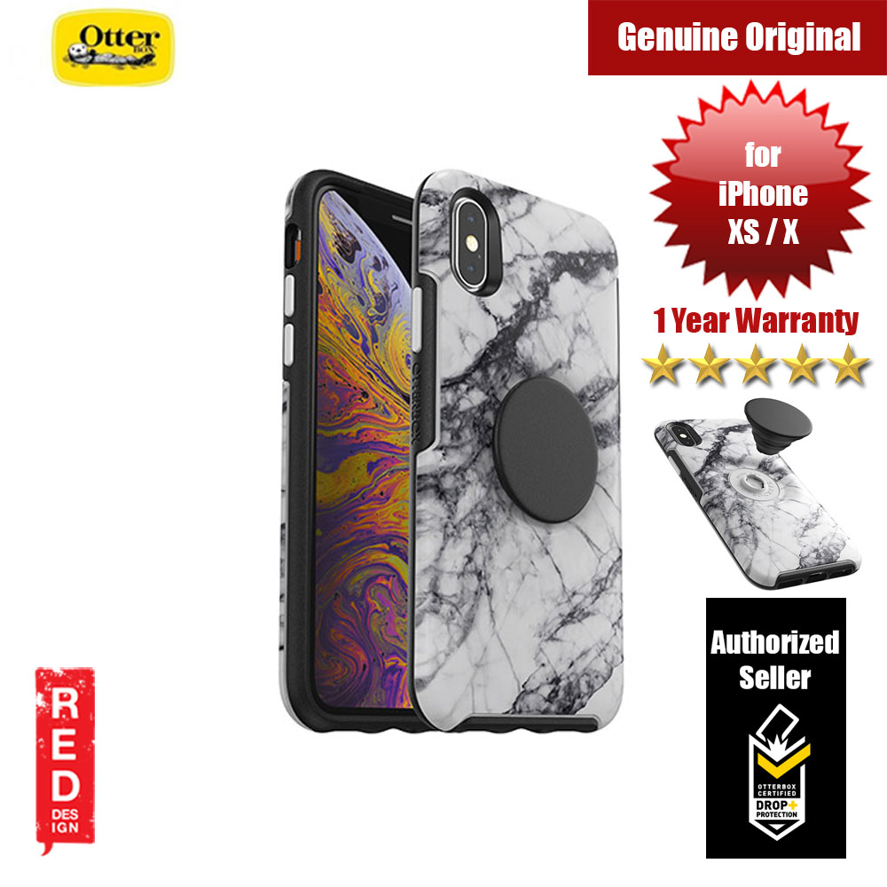Picture of Otterbox Otter + Pop Symmetry Series for iPhone Xs iPhone X (White Marble) Apple iPhone XS- Apple iPhone XS Cases, Apple iPhone XS Covers, iPad Cases and a wide selection of Apple iPhone XS Accessories in Malaysia, Sabah, Sarawak and Singapore