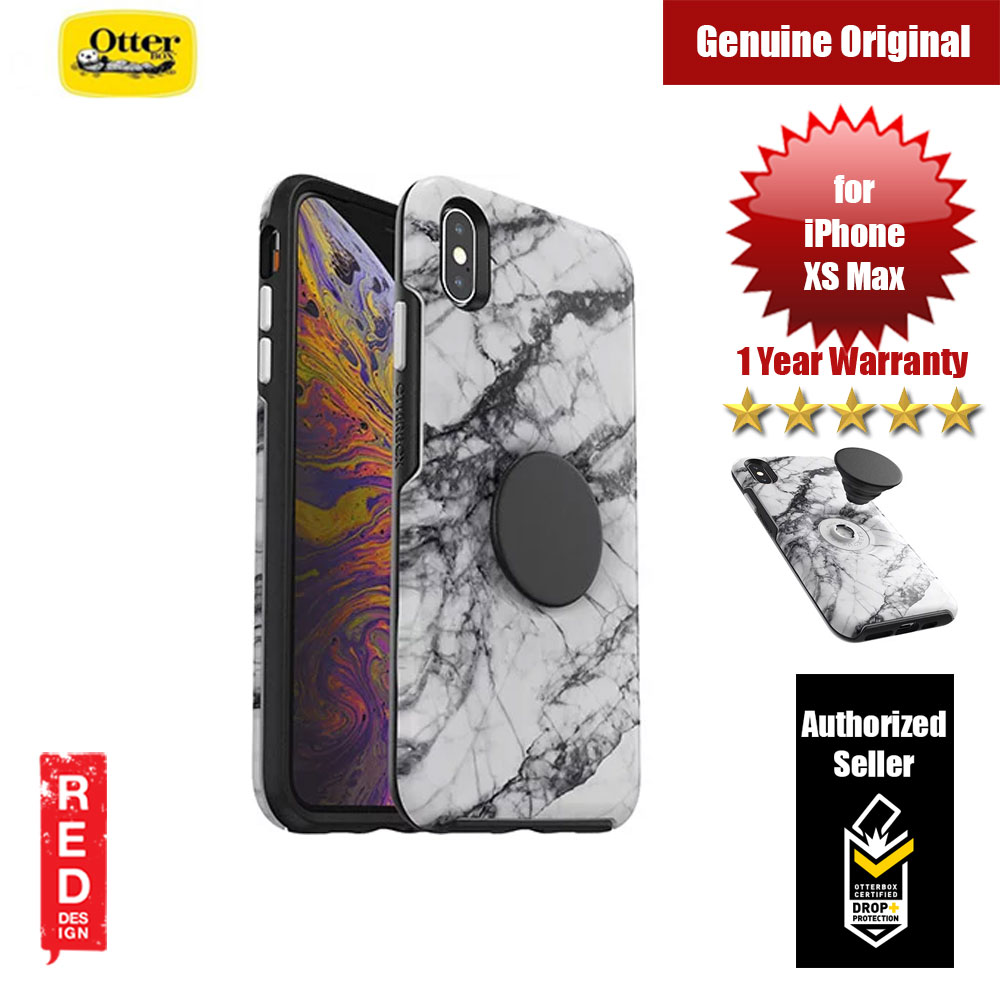 Picture of Otterbox Otter + Pop Symmetry Series for iPhone Xs Max (White Marble) Apple iPhone XS Max- Apple iPhone XS Max Cases, Apple iPhone XS Max Covers, iPad Cases and a wide selection of Apple iPhone XS Max Accessories in Malaysia, Sabah, Sarawak and Singapore