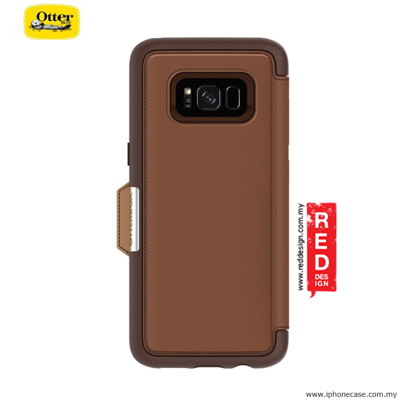 Picture of Samsung Galaxy S8 Case | Otterbox Strada Series Protection Flip Case for Samsung Galaxy S8 - Burnt Saddle