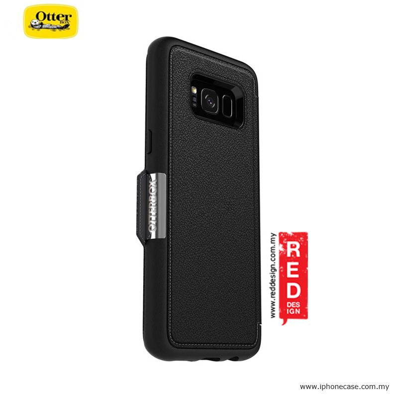 Picture of Samsung Galaxy S8 Case | Otterbox Strada Series Protection Flip Case for Samsung Galaxy S8 - Onxy