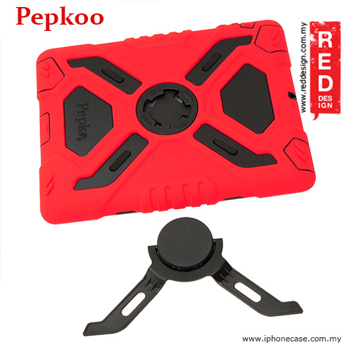 Pepkoo Drop Proof Protection Case for iPad 3 iPad 4 iPad 2 - Red